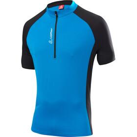 Löffler Rocky Koszulka kolarska, krótki rękaw Mężczyźni niebieski/czarny